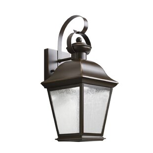 Price Check Darrah 1-Light Glass Shade Outdoor Wall Lantern By Three Posts