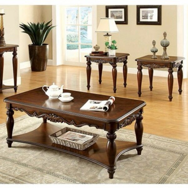 Freman Wooden 3 Piece Coffee Tables Set by Astoria Grand