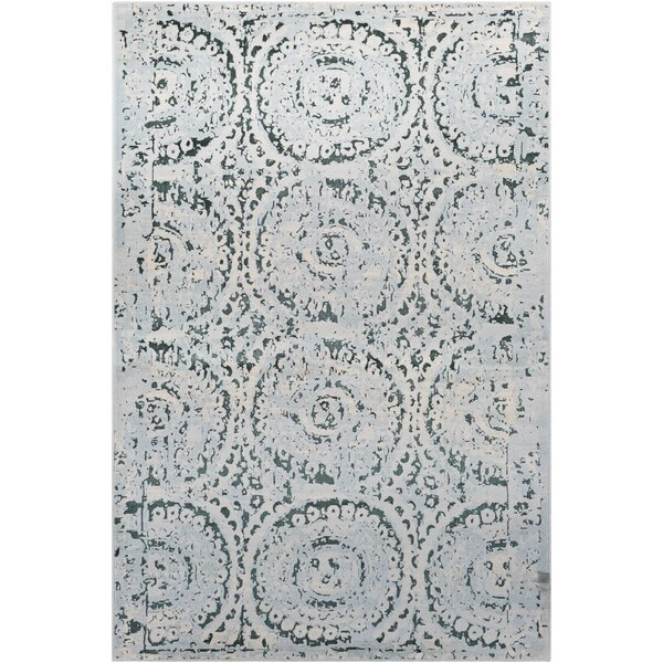 Synthia Blue/Green Area Rug by Ophelia & Co.