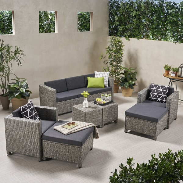 Taber Outdoor 7 Piece Sofa Seating Group with Cushions by Breakwater Bay