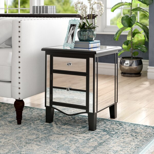 Romarin Mirrored End Table by Willa Arlo Interiors