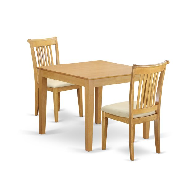 Cobleskill 3 Piece Breakfast Nook Solid Wood Dining Set by Alcott Hill