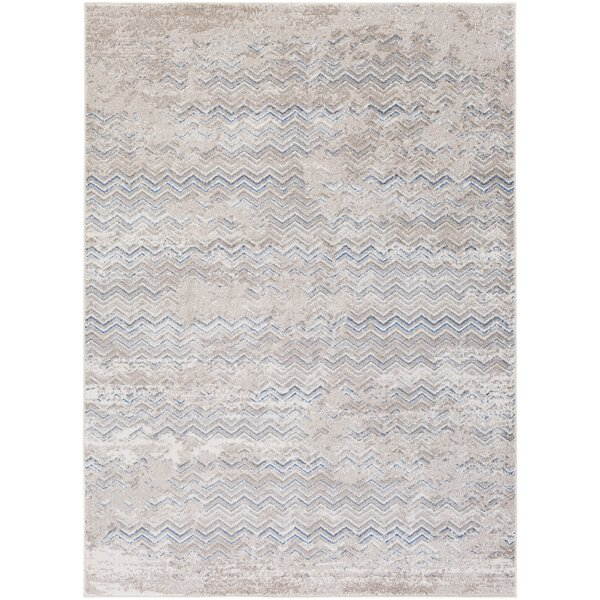 Daigre Hand-Woven Gray/Blue Area Rug by Williston Forge