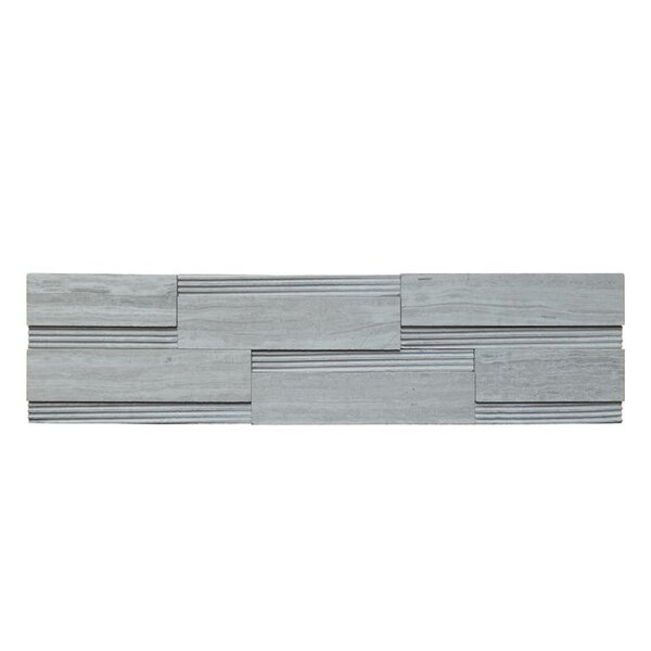 Wall Panel Polished Natural Stone Mosaic Tile in Gray by QDI Surfaces