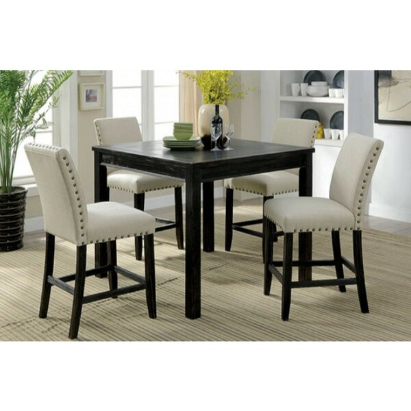 Pittard Rustic 5 Piece Pub Table Set by Charlton Home