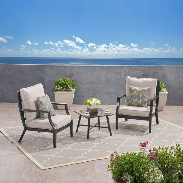 Penton 3 Piece Seating Group with Cushions by Alcott Hill