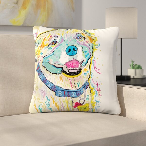 Milo by Rebecca Fischer Outdoor Throw Pillow by East Urban Home