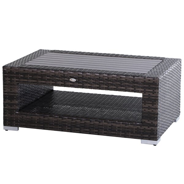 Perryopolis Wicker Coffee Table by Latitude Run