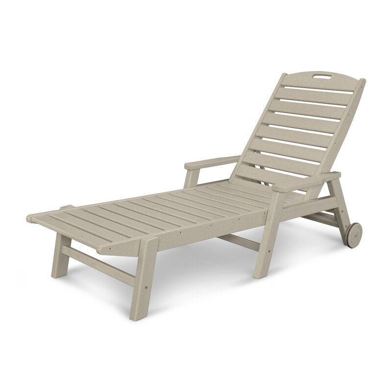 Nautical Reclining Chaise Lounge