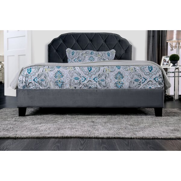 Kimbrough Camelback Upholstered Platform Bed by House of Hampton