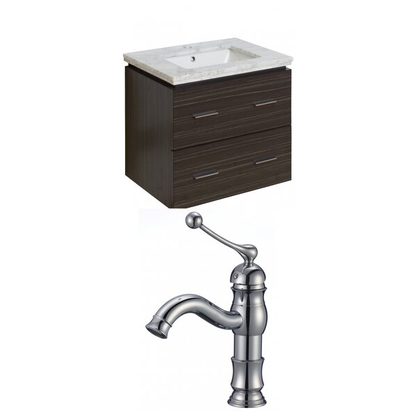 Hinerman 24 Wall-Mounted Single Bathroom Vanity Set by Royal Purple Bath Kitchen