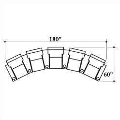 Celebrity Home Theater Row Seating (Row Of 5) By Bass