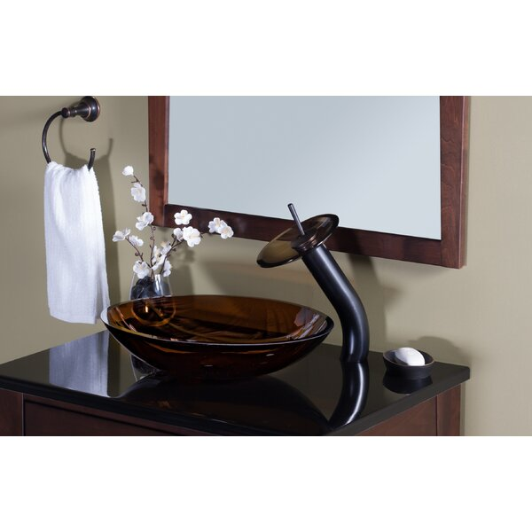 Ovale Glass Oval Vessel Bathroom Sink by Novatto