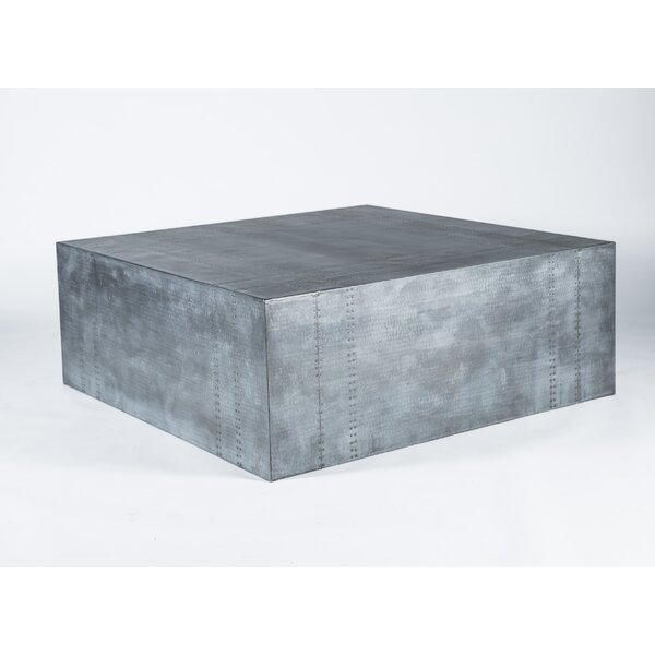 Silvia Hammered Coffee Table by 17 Stories