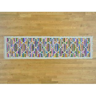 Affordable Price One-of-a-Kind Botkins Geometric Design Handmade Kilim Wool Area Rug By Isabelline