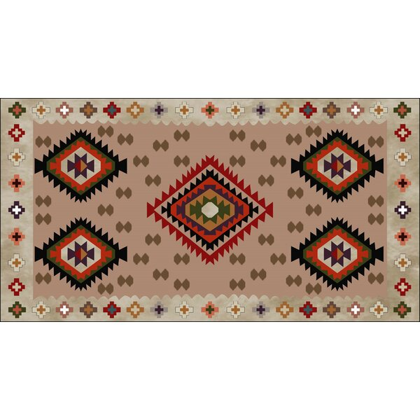 Reliford Beige/Red Indoor/Outdoor Area Rug by Loon Peak