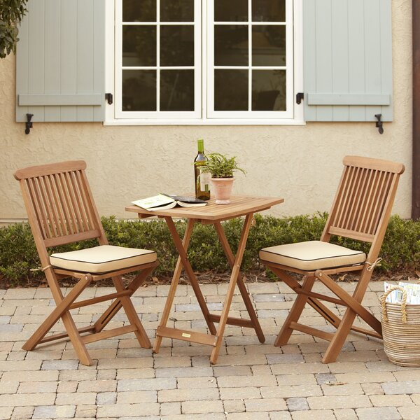 Roseland 3 Piece Bistro Set with Cushions by Beachcrest Home