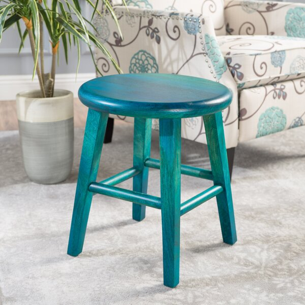 Kingfield Wood Accent Stool by Loon Peak