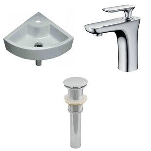 Price comparison Specialty Ceramic Specialty Vessel Bathroom Sink with Faucet By American Imaginations