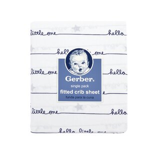 Check Prices Gerber® Hello Little One Fitted Crib Sheet By Gerber