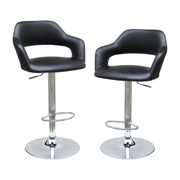 Adjustable Height Swivel Bar Stool (Set of 2) by BestMasterFurniture