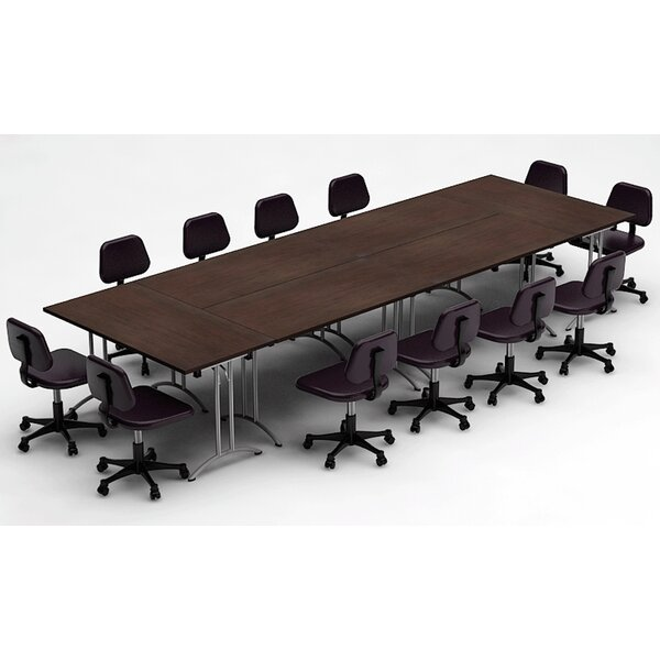 Bennington Meeting Seminar 6 Piece Rectangular 30H x 60W x 180L Conference Table Set by Symple Stuff