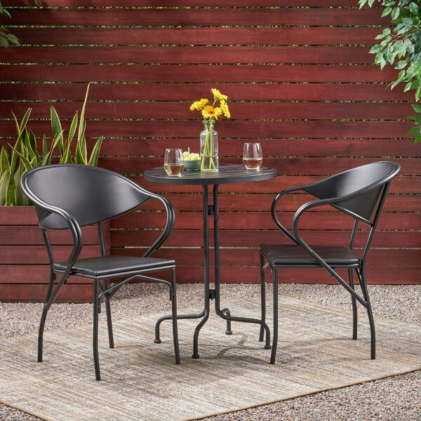 Dalila 3 Piece Bistro Set By Ebern Designs by Ebern Designs New