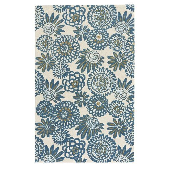 Melzig Genevieve Gorder Pompon Hand-Tufted Blue Area Rug by Latitude Run