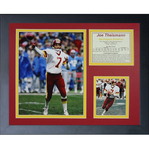 Joe Theismann Framed Memorabilia by Legends Never Die
