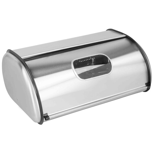 Pye Stainless Steel Roll Top Bread Box with Window by Latitude Run
