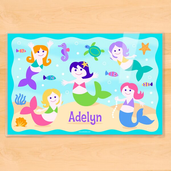 Mermaids Personalized Placemat by Olive Kids