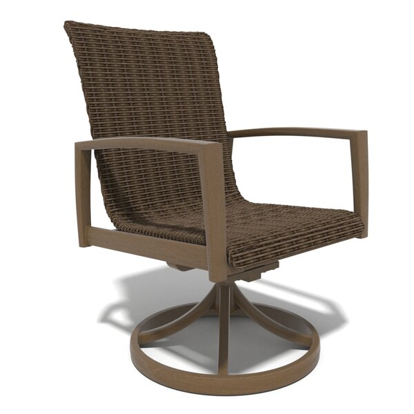 Soho Woven Swivel Patio Dining Chair (Set of 2) by Winston