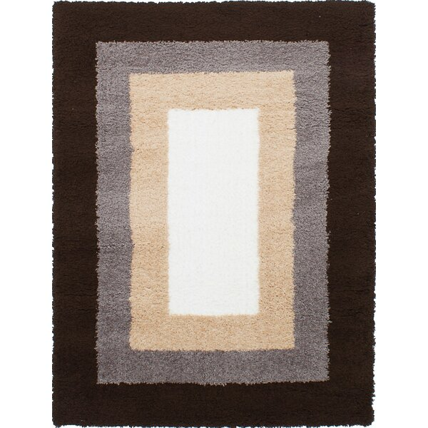Purmerend Cream/Dark Brown Area Rug by Brayden Studio