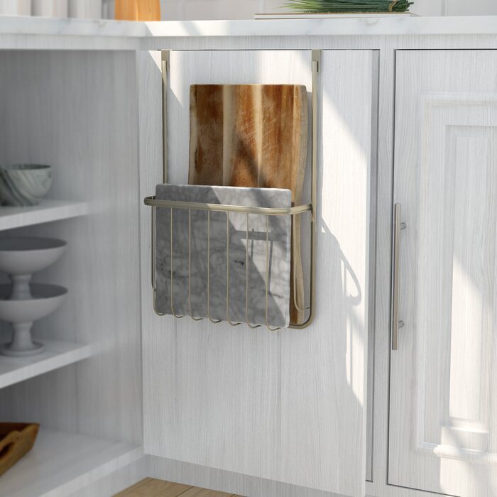 Over the Cabinet Cutting Board and Bakeware Holder Cabinet Door Organizer