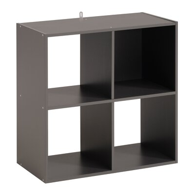Aarav 4 Unit Cube Bookcase Color: Dark Gray