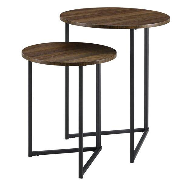 Deals Price Mcnett 2 Piece Frame Nesting Tables