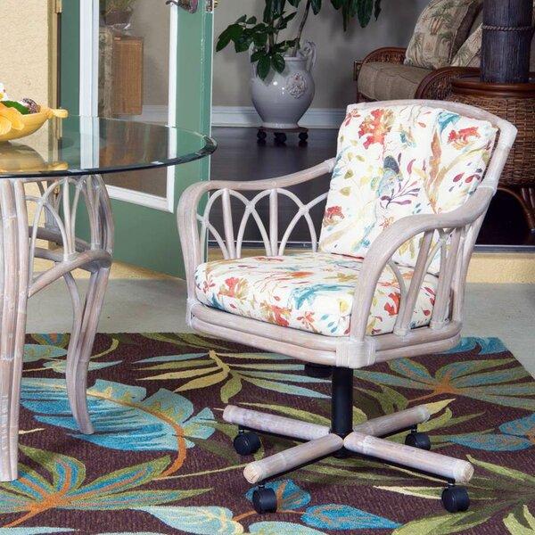 Presley Tilt Swivel Caster Arm Chair By Bay Isle Home