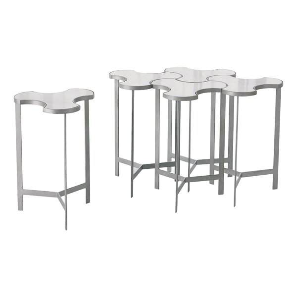 Link Bunching End Table with Marble Top by Studio A Home