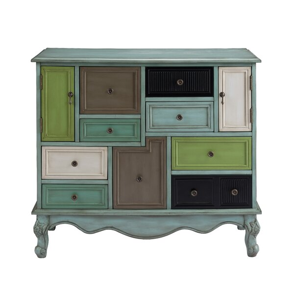 Mandel 9 Drawer Accent Cabinet by Bungalow Rose Bungalow Rose