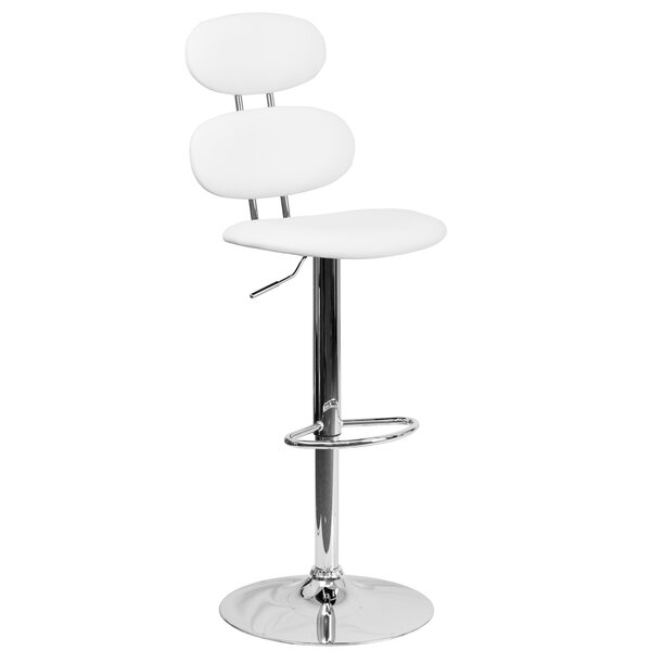 Norberg Adjustable Height Swivel Bar Stool by Orren Ellis