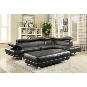 Blangkejeren Sectional  sc 1 st  Wayfair : black leather sectional couches - Sectionals, Sofas & Couches
