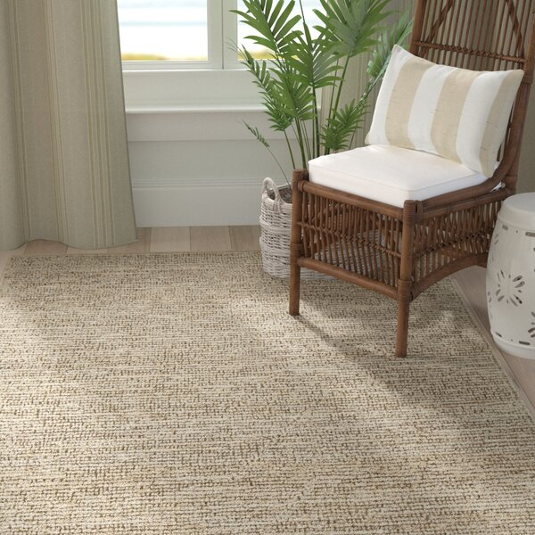 Lilliana Textured Jute Bleached Area Rug by Longshore Tides