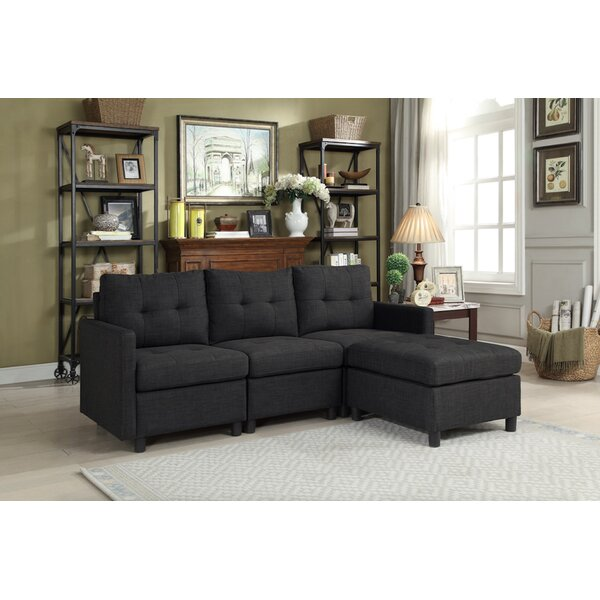 Westerman Modular Sectional with Ottoman by Winston Porter