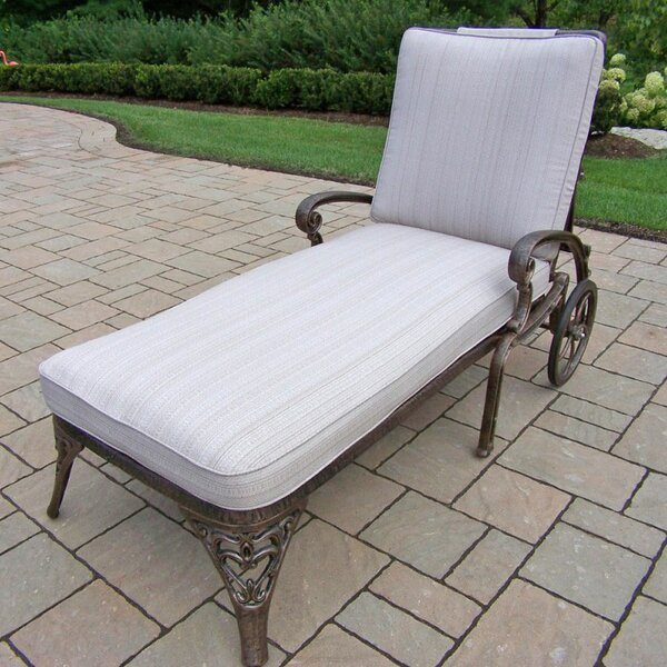 Mcgrady Reclining Chaise Lounge with Cushion by Astoria Grand Astoria Grand