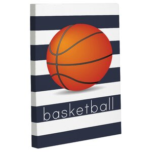 Basketball Graphic Art on Wrapped Canvas by One Bella Casa