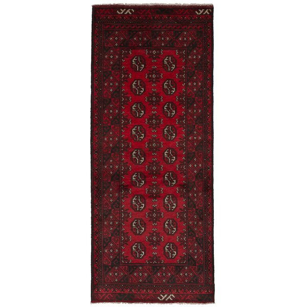 One-of-a-Kind Bridges Hand-Knotted Wool Red Area Rug by Bloomsbury Market