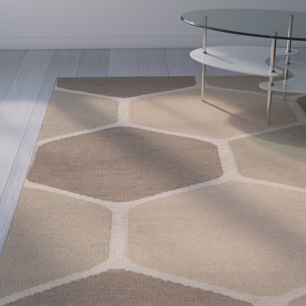 Montville Cream Geometric Area Rug by George Oliver