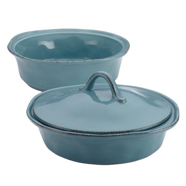 Cucina 3 Piece Stoneware Round Casserole Set by Rachael Ray