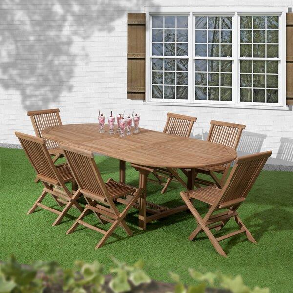 Reade 7 Piece Teak Dining Set by Loon Peak