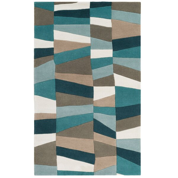 Carlotta Dried Hand-Tufted Dried Oregano/Sea blue Area Rug by Langley Street